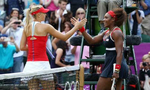 Serena Williams và Maria Sharapova có thể gặp nhau tại vòng bốn Pháp mở rộng năm nay. Ảnh: Zimbio.