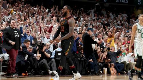 LeBron James ghi 46 điểm, nhiều nhất sự nghiệp ở một trận play-off, giúp Cavaliers đánh bại Celtics ở game 6 chung kết miền Đông.Ảnh: ESPN.