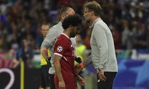 Klopp thừa nhận Salah đã gặp một chấn thương nghiêm trọng. Ảnh: AFP.
