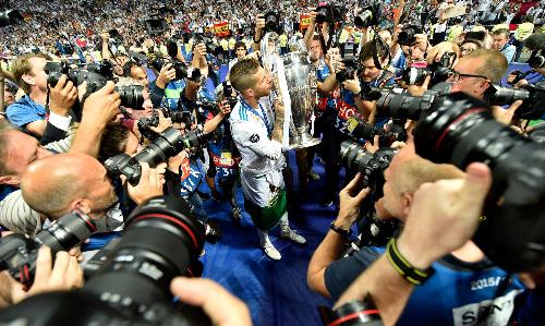 Rất khó để đội bóng nào soán ngôi Real ở vị trí giành nhiều danh hiệu vô địch châu Âu nhất. Ảnh:AFP.
