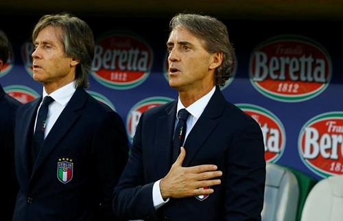 Mancini có chiến thắng đầu tay với Italy. Ảnh: Reuters.