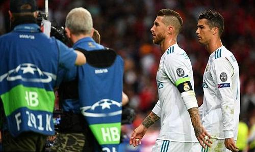 Ramos được cho là đã răn đe Ronaldo trong phòng thay đồ. Ảnh: UEFA.
