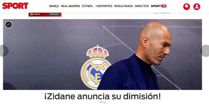Truyền thông thế giới xôn xao vì Zidane ra đi