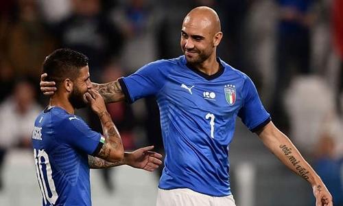 Zaza mở tỷ số cho Italy. Ảnh: Reuters.
