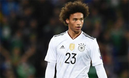 Thành công với Man Citychưa đủ để Sane có suất chơi cho tuyển Đức tại World Cup. Ảnh: Reuters