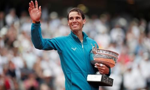 Nadal có lần thứ 11 vô địch Roland Garros. Ảnh: AP.