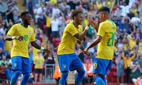 Neymar và các đồng đội sở hữu lương trung bình cao nhất tại World Cup. Ảnh: AFP.