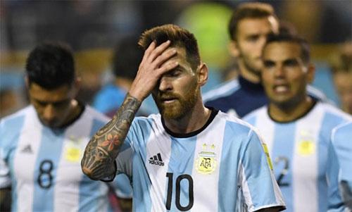 Messi chưa có lần nào đăng quang với Argentina. Ảnh: Reuters