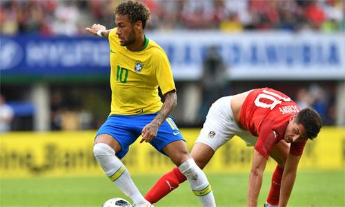 Neymar có thể là người ghi bàn nhiều nhất cho Brazil trong tương lai. Ảnh: Reuters
