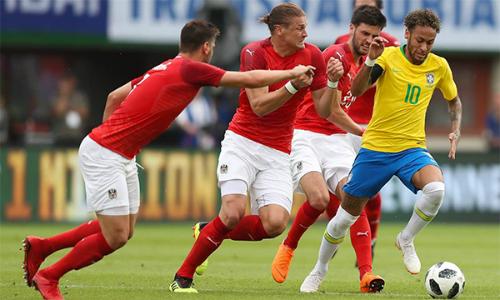 Neymar đã có 55 bàn cho Brazil. Ảnh: AFP.
