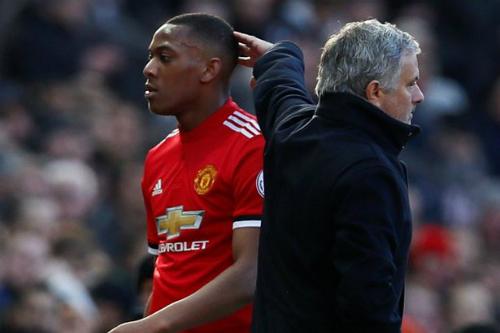 Martial đã không phát triển như sự kỳ vọng dưới thời HLV Mourinho. Ảnh:AFP.
