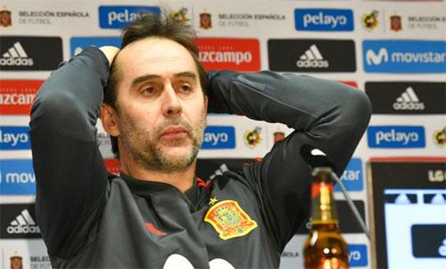 Lopetegui không còn là HLV tuyển Tây Ban Nha. Ảnh: Reuters