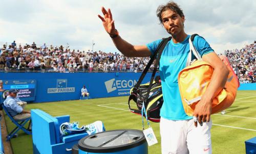Nadal không màng tới việc vượt qua số Grand Slam của Federer. Ảnh: Eurosport.