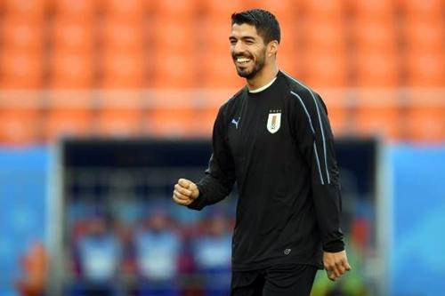 Luis Suarez là niềm hy vọng số một trên hàng công Uruguay. Ảnh: AFP.