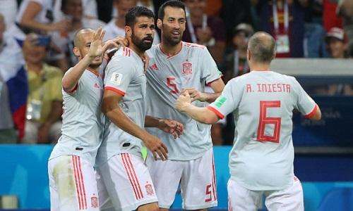 Bàn thắng của Costa là pha lập công đầu tiên được xác định nhờ công nghệ VAR. Ảnh: Reuters.