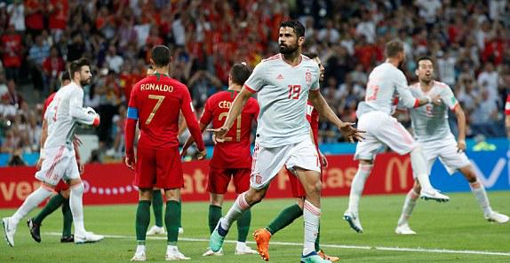 Costa tỏa sáng với cú đúp. Ảnh: Reuters.