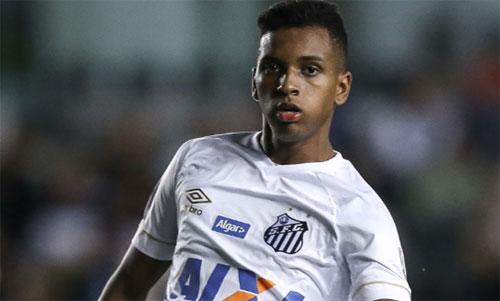 Cùng với Vinicius, Rodrygo là tương lai của bóng đá Brazil. Ảnh: Globo