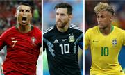 Ronaldo vượt trội Messi, Neymar ở lượt đầu vòng bảng World Cup
