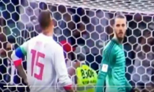 Ramos chỉ sai khiến De Gea thất bại trên chấm 11m trước Ronaldo