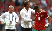 Morocco ấm ức vì trọng tài không dùng VAR trước Bồ Đào Nha