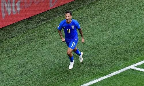 Coutinho ghi bàn thắng quý giá cho Brazil. Ảnh: Reuters.