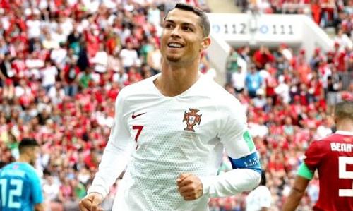 Ronaldo đang tỏa sáng rực rỡ tại World Cup 2018. Ảnh: EPA.