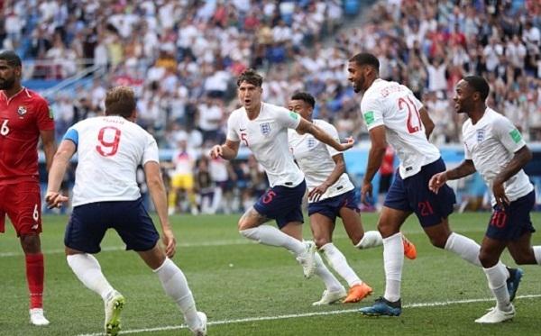 Cùng với chiếnthắng 5-0 của Nga trước Ả-Rập Xê-Út, Anh tạo ra trận đấu cách biệt nhất từ đầu World Cup 2018. Ảnh: AP.