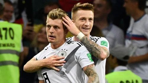 Reus và Kroos là tác giả của hai bàn thắng của Đức trận này.