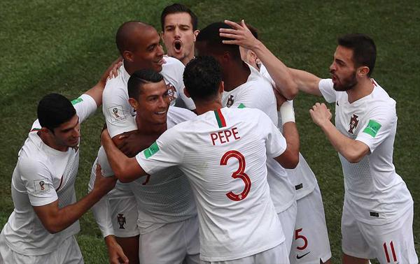 Ronaldo tỏa sáng giúp Bồ Đào Nha giành chiến thắng. Ảnh: TX.