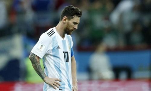 Messi chưa có bàn thắng và đường chuyền dọn cỗ nào tại World Cup 2018. Ảnh: Reuters