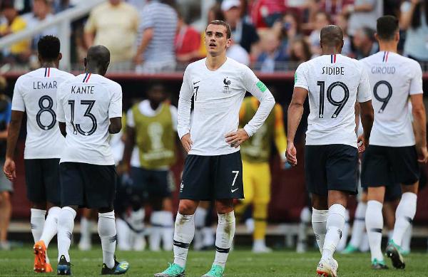 Pháp đi tiếp với đỉnh bảng, nhưng gây thất vọng khi thiếu sức chiến đấu. Ảnh: TASS.