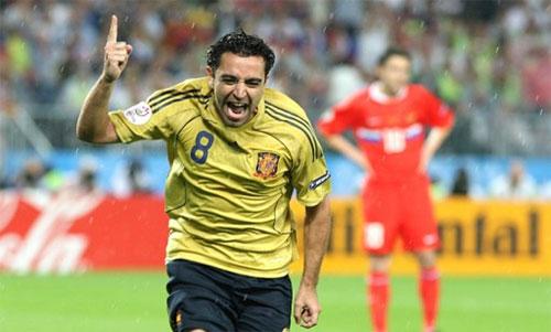 Tây Ban Nha từng thắng Nga 4-1 (vòng bảng) và 3-0 (bán kết) ở Euro 2008. Ảnh: Reuters