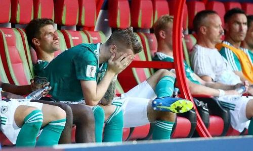 Các hảo thủ của tuyển Đức bất lực rời World Cup với vị trí bét bảng. Ảnh: Reuters.