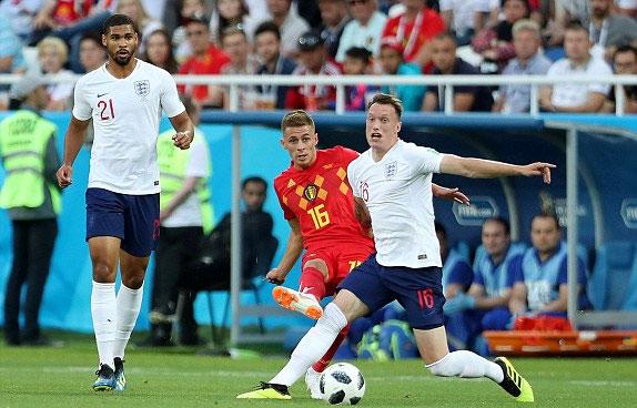 Bỉ vẫn chơi hay dù thiếu nhiều trụ cột như Hazard, Lukaku, De Bruyne. Ảnh: Reuters