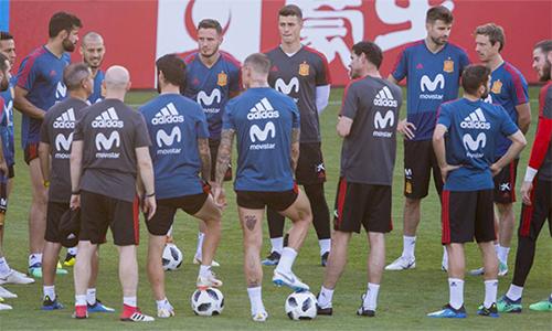 Đội tuyển Tây Ban Nha thận trọng dù gặp Nga - đối thủ ưa thích tại vòng 1/8. Ảnh: AS.