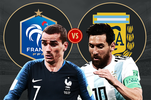 Argentina chỉ có được ngôi nhì bảng nên sớm đụng Pháp ở vòng 1/8.