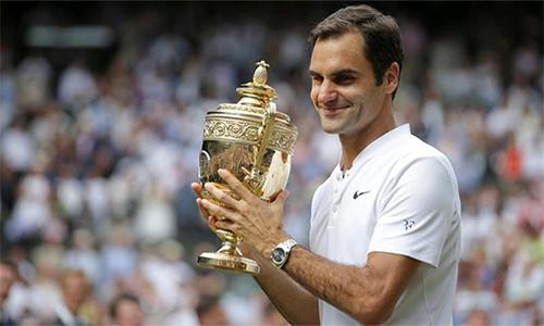 Federer ở vào nhánh đấu thuận lợi trên hành trình bảo vệ chức vô địch Wimbledon. Ảnh: Reuters.