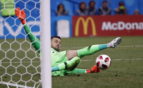 Những pha cản phá xuất sắc của Subasic trong loạt luân lưu. Ảnh:FIFA, EPA.