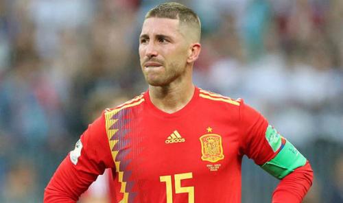 Ramos không thể cùng Tây Ban Nha chinh phục World Cup lần thứ hai. Ảnh:Reuters.