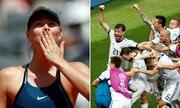 Sharapova chúc mừng chiến thắng của tuyển Nga