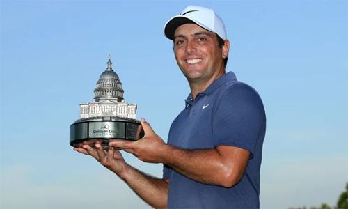 Ở tuổi 35, Molinari có chức vô địch PGA Tour đầu tiên sau khi xác lập kỷ lục số gậy tại Quicken Loans National. Ảnh: PGA Tour.