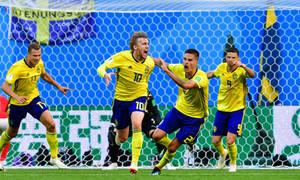 Thụy Điển lần đầu vào tứ kết World Cup sau 24 năm