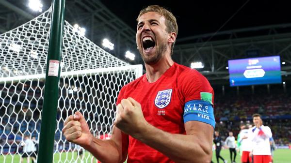 Harry Kane chứng tỏ phẩm chất người đội trưởng với bàn thắng thứ sáu ở World Cup 2018 và thực hiện thành công trong loạt luân lưu. Ảnh:FIFA.