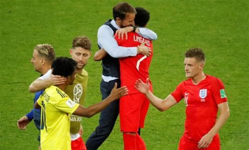 Anh (áo đỏ) đang có cơ hội tốt để lọt vào chung kết World Cup 2018. Ảnh: Reuters