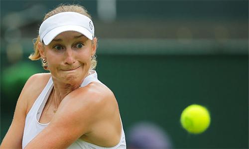 Makarova làchủ nhân của bất ngờ lớn nhất vòng hai Wimbledon. Ảnh: Sky Sports.