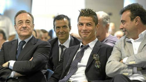 Từ trái qua phải: Perez, Mendes, Ronaldo và Sanchez. Ảnh:Marca.