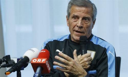 Tabarez đánh giá cao Pháp tại giải năm nay. Ảnh: Reuters