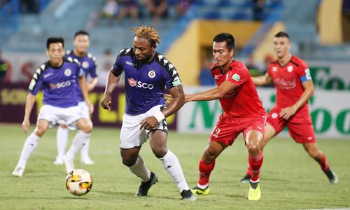 Hà Nội đang sở hữu hàng công tốt nhất V-League với 53 bàn sau 18 trận. Ảnh: Lâm Thỏa