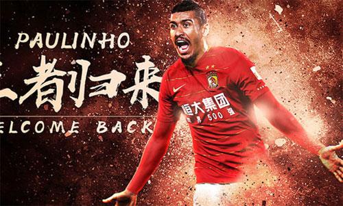 Quảng Châu đăng ảnh chào đón Paulinho trở lại.