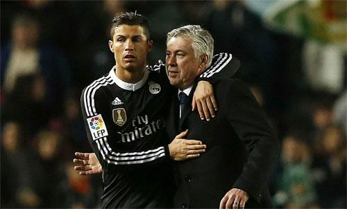 Ancelotti từng thành công trong việc huẩn luyện Ronaldo. Ảnh: Reuters